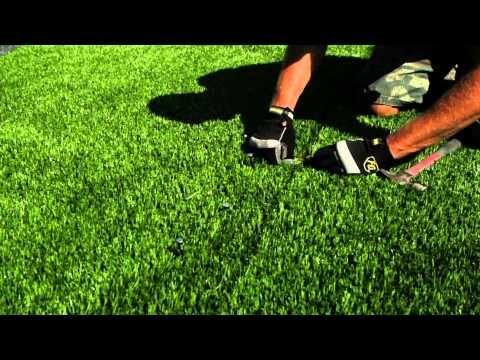 ▶ Artificial Pet Turf Install | Synthetic Grass for Pets - YouTube How to install artificial pet grass