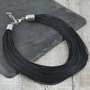 Multi Cord Black Necklace - necklaces & pendants