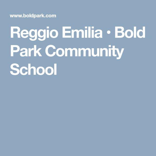Reggio Emilia • Bold Park Community School