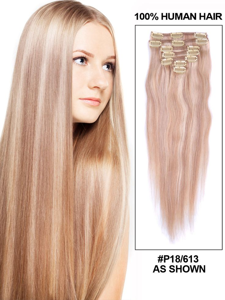 48 best clip in hair extensions images on pinterest wave body 7 piece silky straight clip in human hair extension pmusecretfo Choice Image