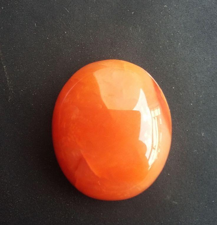 32 ct Loose Agate Orange Gemstone 00A#a