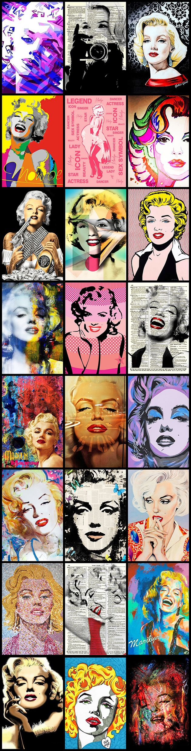 Marilyn Monroe Pop Art ......