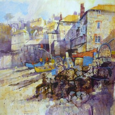 The Slipway, Port Isaac by British Contemporary Artist Chris FORSEY