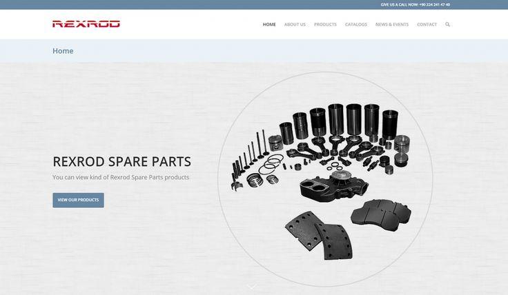 Rexrod Spare Parts Kontrol Panelli Web Sitesi - Silüet Tanıtım Web Tasarım
