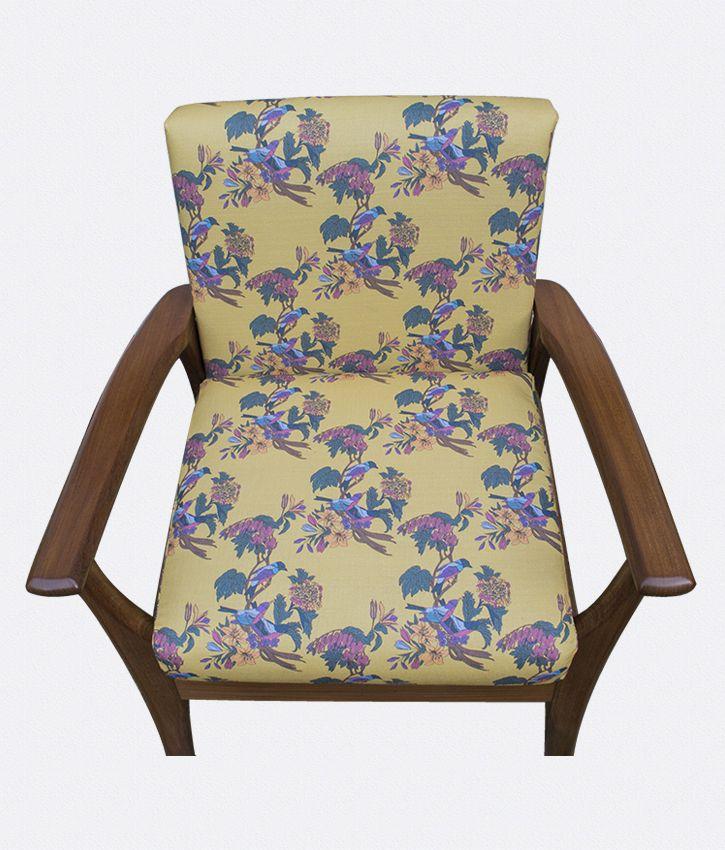 Retro Chair - Golden Bunting Bird - Occipinti