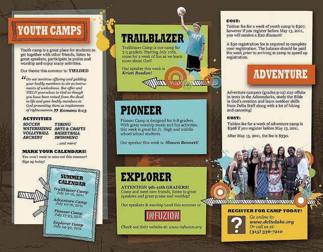 Church Camp Brochure  Print Ideas    Brochures
