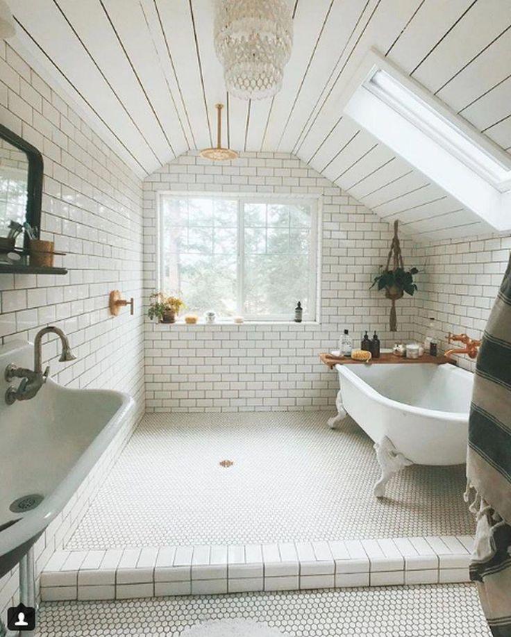 Nice 30 Attractive Small Attic Bathroom Design Ideas