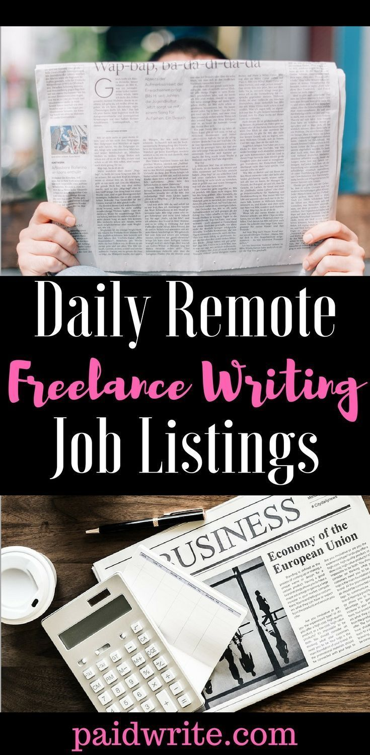 Looking For Online Writing Jobs Check Paid Write Daily For Remote Freelance Job Listings From Around Th Writing Jobs Freelance Writing Jobs Freelance Writing