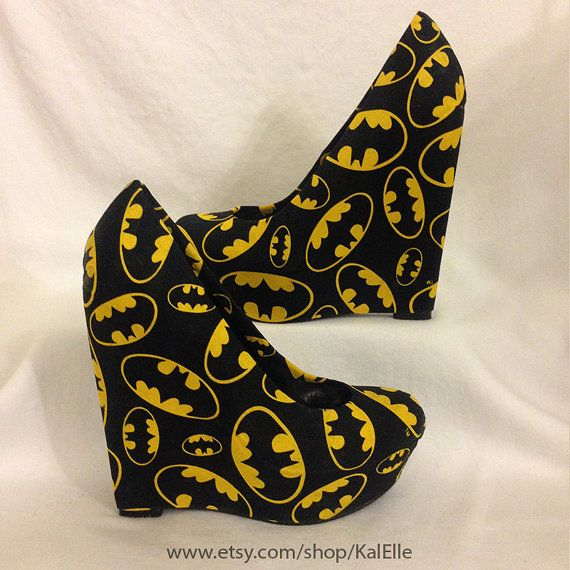 Batman Wedges by KalElle on Etsy