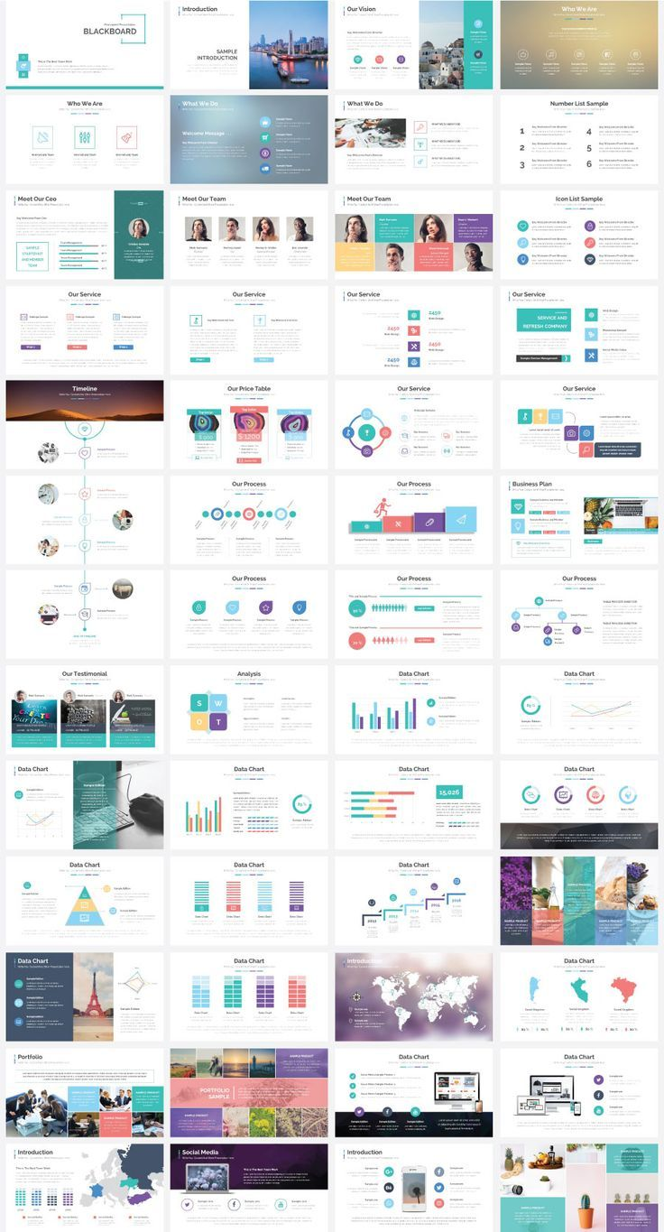 Stock Powerpoint Templates - Free Download Every Weeks | Blackboard Presentation Template