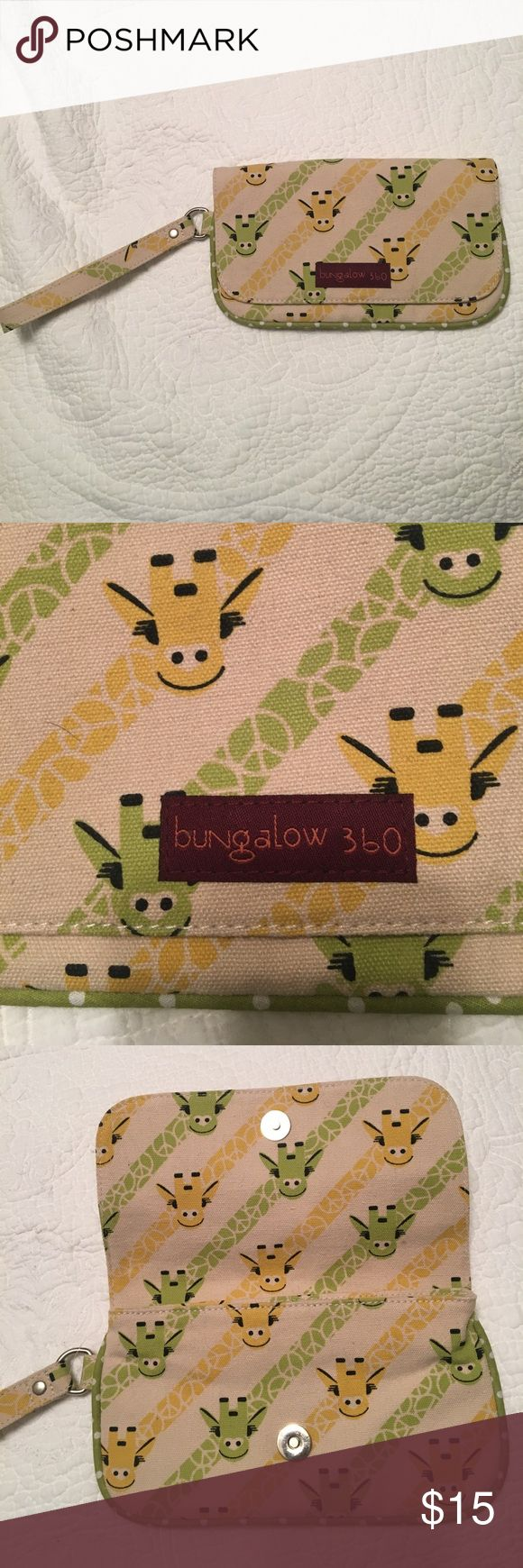Bungalow 360 Giraffe wristlet Bungalow 360 Giraffe wristlet. Never warn. Bungalow 360 Bags Clutches & Wristlets