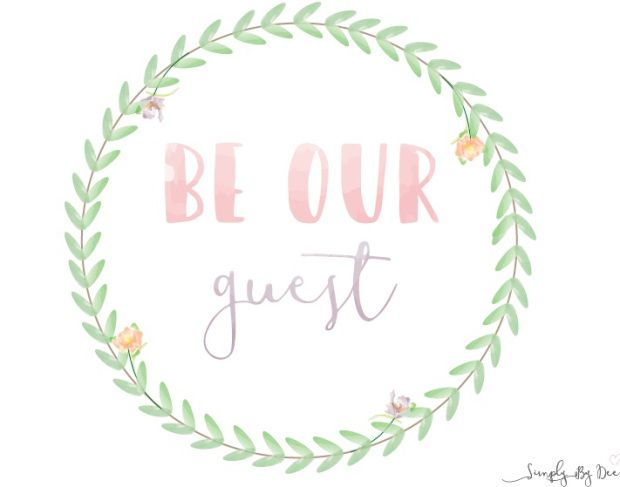 Wreath - Be Our Guest FREE Printable!! | Simplybydee | Pinterest ...