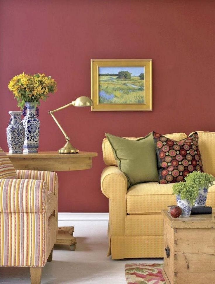 Im Wohnziummer Leuchtende Warme Farben Kombinieren