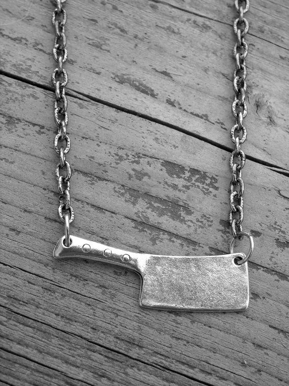 Silver Butcher Knife Necklace by Ink & Roses 13