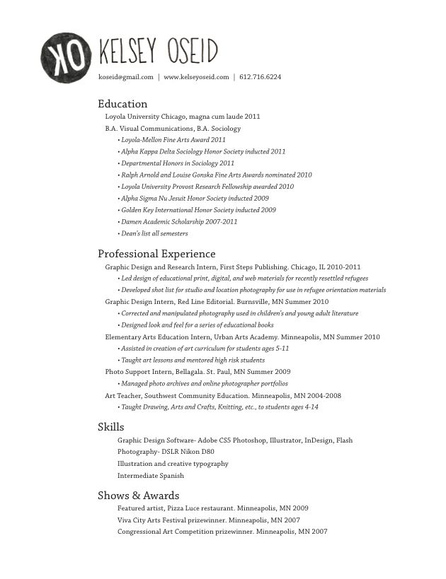 98 best Resume images on Pinterest Page layout, Career and Charts - sample art resume