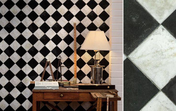 papier peint marble chess coordonné