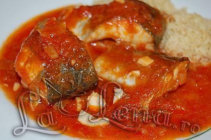 Peste cu sos de rosii si portocale