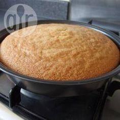 Basic plain sponge cake. This was a great recipe.