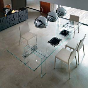 Mesa moderna / de cristal / extensible - AZIMUT by Studio Kronos