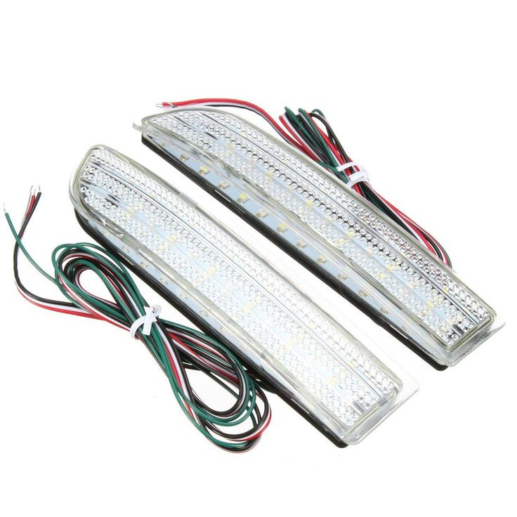 2Pcs Rear Bumper Reflector Backup LED Brake Stop Running Tail Light For Toyota RAV4 Scion xD - $26.99