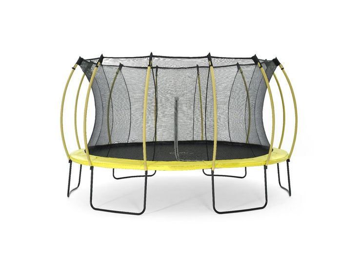 Plum 14ft Trampoline and Enclosure Blue and Lime