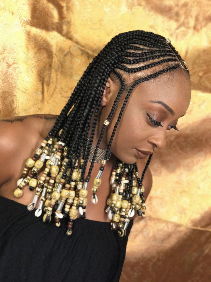Beaded braids beads african braids natural styles