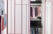 Unique Kids Wardrobes : Modern Kids Wardrobes Design For Girl White Surface Purple Stripe