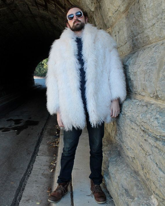 Vintage Shaggy TIBETAN Lambs White FUR COAT by HarlowGirls on Etsy