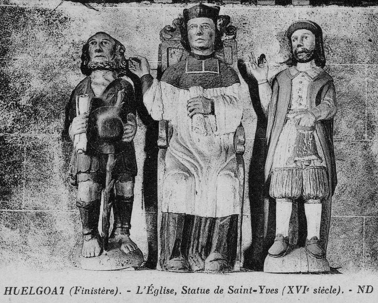 St Yves, église dHuelgoat, carte postale ancienne