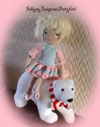 "This is my latest Amigurumi Doll ""Sally"""