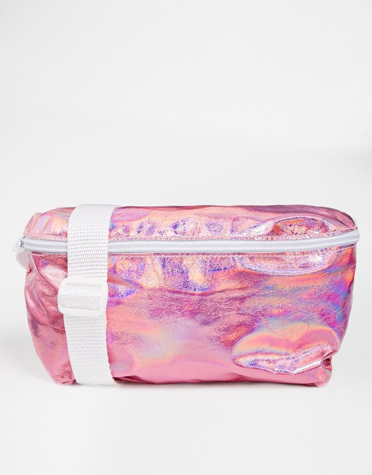Image 1 of American Apparel Leather Bum Bag in Metallic Pink