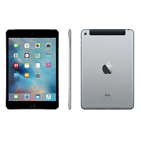 "Buy New Apple iPad mini 4, Apple A8, iOS 9, 7.9"", Wi-Fi & Cellular, 128GB Online at johnlewis.com"
