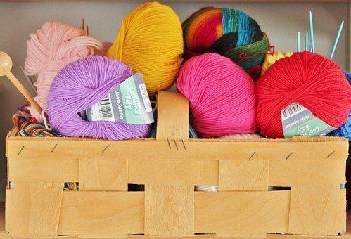 Wool, Knit, Knitting Needles
