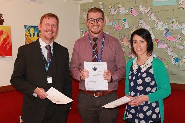 St Benedict's School celebrates glowing report from Diocese of Lancaster http://www.cumbriacrack.com/wp-content/uploads/2017/06/Head-of-RE-Ian-Nevitt-Lay-Chaplain-Richard-Teasdale-Deputy-Head-of-RE-Gabrielle-Rush.jpg St Benedict's Catholic High School in Whitehaven, has this week received an extremely positive report from the Diocese of Lancaster    http://www.cumbriacrack.com/2017/06/14/st-benedicts-school-celebrates-glowing-report-diocese-lancaster/
