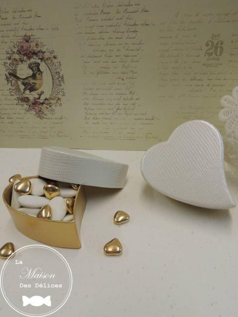 elgante bote drages mariage en forme de coeur vritable crin renfermant vos drages - Contenant Drages Mariage Coeur