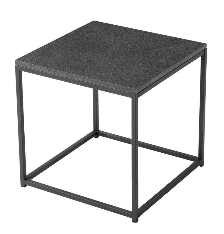 Stolik OLDHUSE 45x45cm stal/granit | JYSK 150 zł