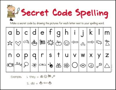 secret code spelling- they will love this!
