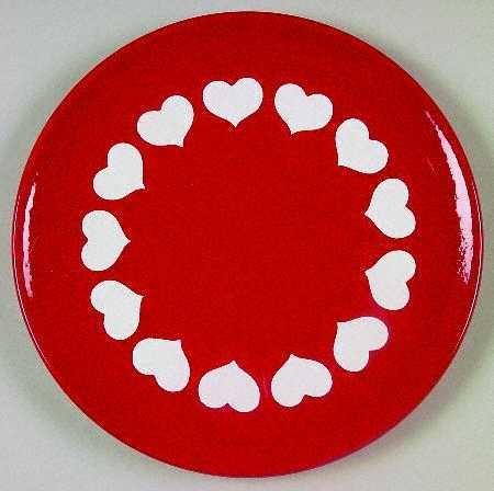 Waechtersbach Heart Salad Plate