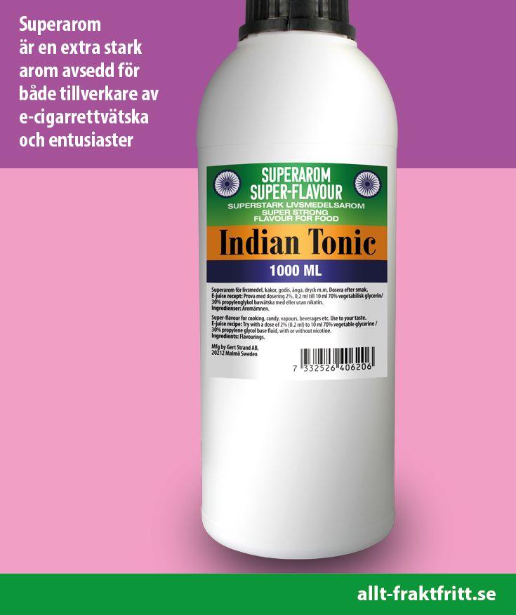 Superarom Indian Tonic 1 Liter. Livsmedelsaromer som ger smak till e-juice, konfektyrer, drycker och många andra livsmedel.