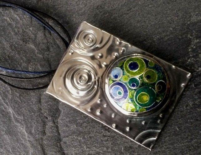 Enamelled Closonie pendant. Pewter backed £35.00
