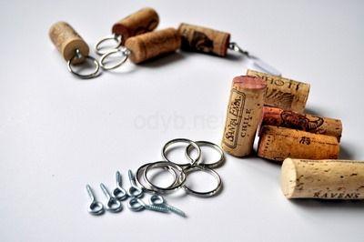 keychain wine cork craft
