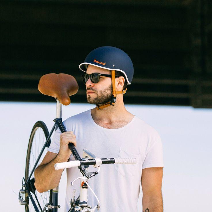 Thousand Bicycle Helmet - Navy | Cyclechic | unisex urban cycling helmet | cool LA helmet