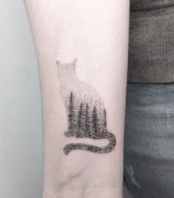 Si eres amante de los gatos estos tatuajes son ideales para ti ¡Quiero!