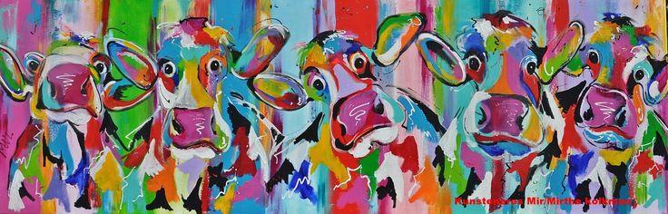 #Schilderij #grappige #koeien' van Mirthe Kolkman is te koop via #Kunstmarktplaats.nl.  http://kunstmarktplaats.nl/ads/mirthe-kolkman-koeien-loeien/#kunst #art #koe