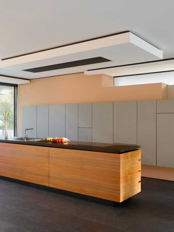 Architecture, Architecture Home Interior Design Contemporary Wooden Kitchen Island Cabinet Beadboard Tomatoes Tap Glass Wall: Enchanting, Mu...