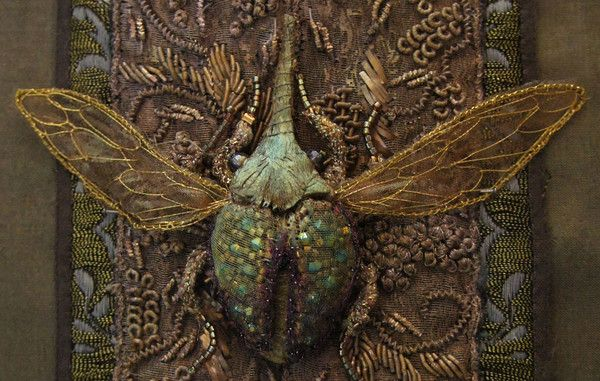 Embroidered Beetle Stumpwork by Michelle Carragher
