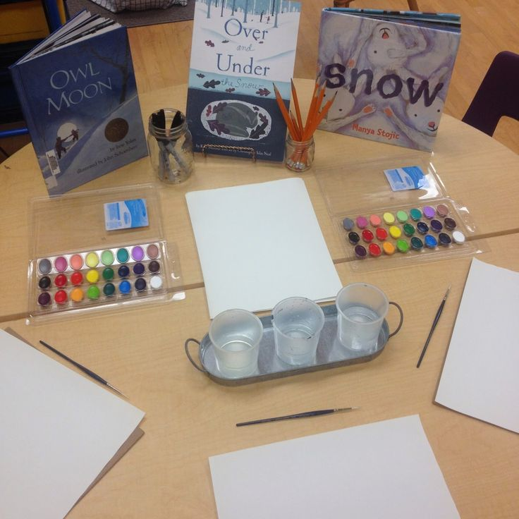 Kindie Korner: Animals in Winter: A Watercolour Provocation!