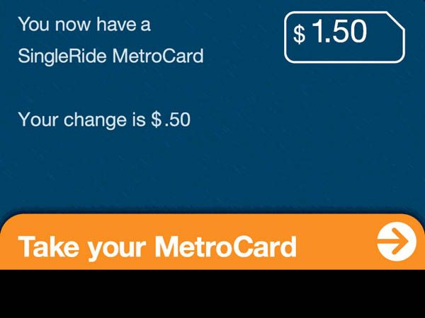 metrocard vending machine thank you screen