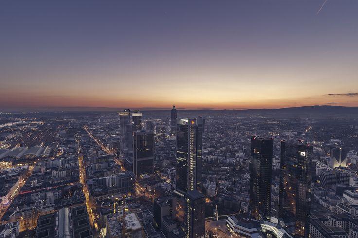 https://flic.kr/p/wjgy5M | Frankfurt | nach Sonnenuntergang vom MAIN TOWER aus in Richtung Westen fotografiert  Blogbeitrag  Facebook | Blog | Instagram