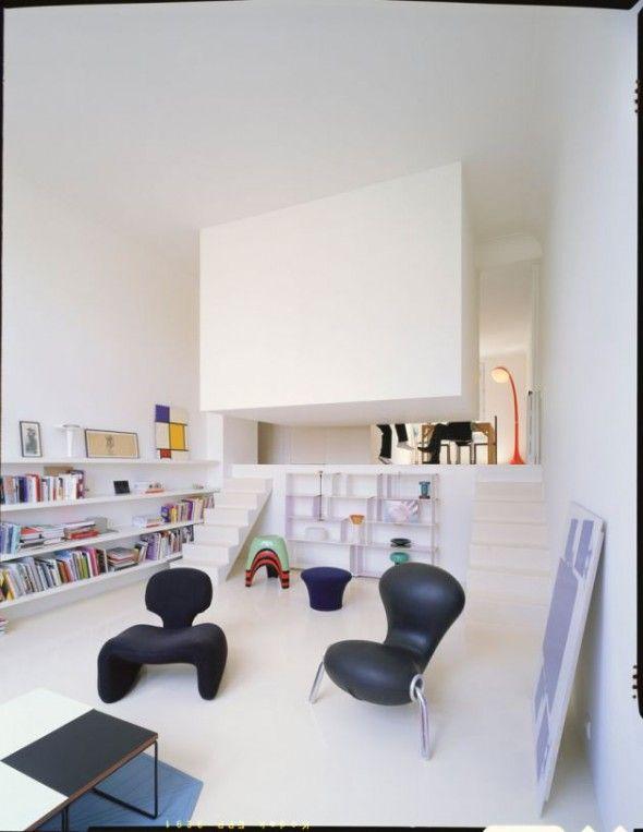 Valentin White Apartment by Emmanuel Combarel and Dominique Marrec